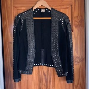 Haute Hippie leather and suede studded jacket